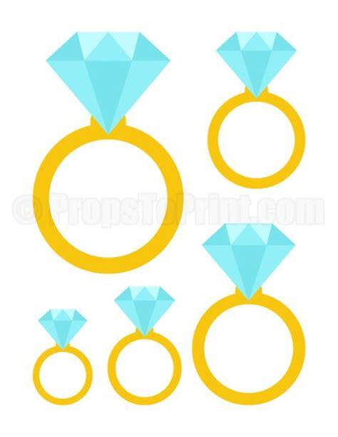 printable diamond ring photo booth prop create diy props