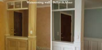 how to wainscot a wall how to make a recessed wainscoting wall from scratch