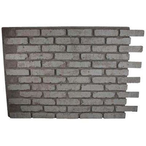 gray panels brick veneer siding building