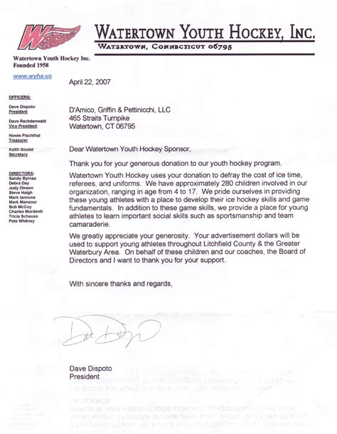 Sle Thank You Letter For Generous Donation Donation Page 53 Lawyer S Information Portal