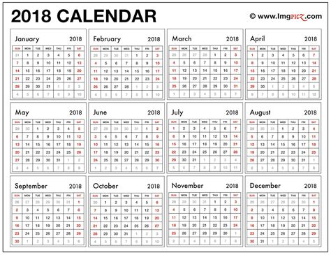 excel calendar template 2018 with holidays 2018 printable calendar template excel pdf ms word