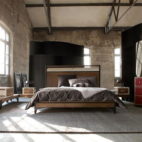 industrial bed bedrooms industrial style room decorating ideas home