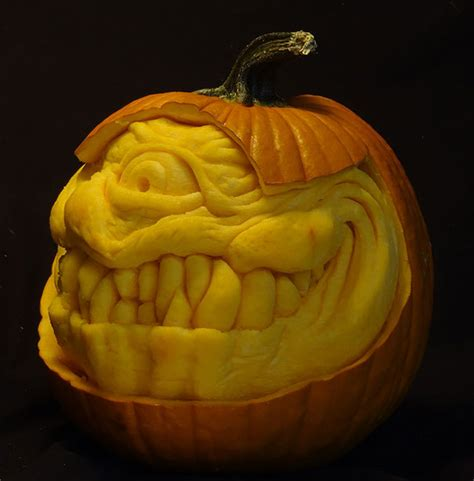 best carved pumpkins this makes the scariest pumpkin carvings bored