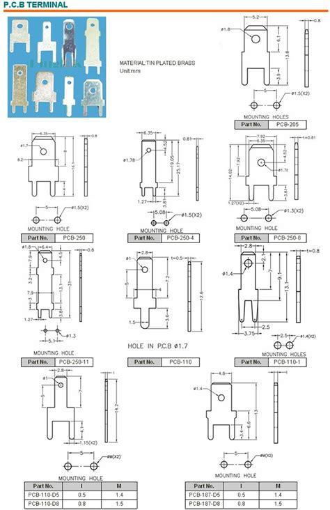 Tyco Ring Terminals - non insulated ring terminals pcb terminals wire ring