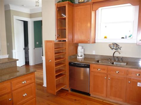 Kitchen Pantry Cabinets Kitchen L Shaped White Wooden Pantry Cabinet With Shelves And Drawers Also Light Brown Rack