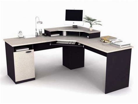Computer Desk L L Shaped Computer Desk With Storage Whitevan