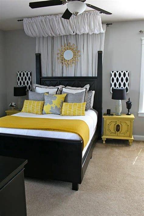 deco chambre noir d 233 co chambre noir et jaune