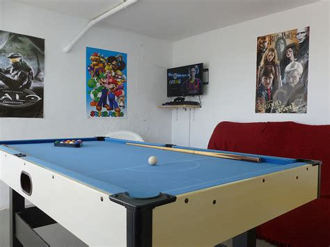 Ps4 Pool room with ps4 pool table darts and table football