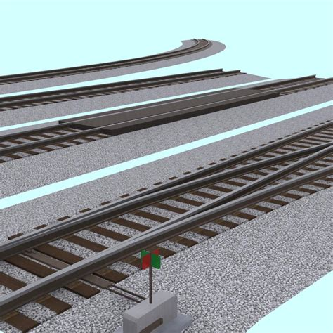 track section 3d model pack interchangeable track section