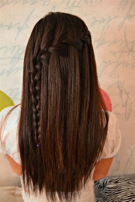 hairstyles for straight hair with braids waterfall braid hairstyles weekly
