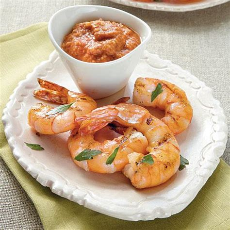 cooking light appetizers grilled shrimp with romesco sauce gluten free snacks