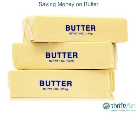 saving money on butter thriftyfun
