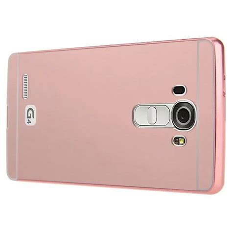 Aluminium Bumper With Mirror Back Cover For Lg G4 1 aluminium bumper with mirror back cover for lg g4 gold jakartanotebook