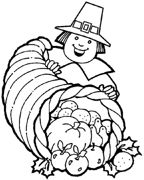 coloring page of thanksgiving food free printable food coloring pages for kids