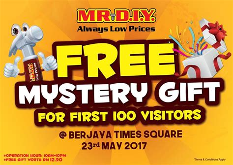 Mr Giveaway - mr diy free mystery gifts worth rm12 90 giveaways may 2017
