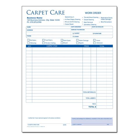 carpet installation receipt template water damage invoice sle hardhost info