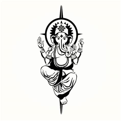 ganesh tribal tattoo 22 simple ganesha tattoos