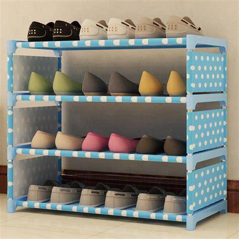 Rak Sepatu Susun rak sepatu 4 susun diy motif polkadot blue