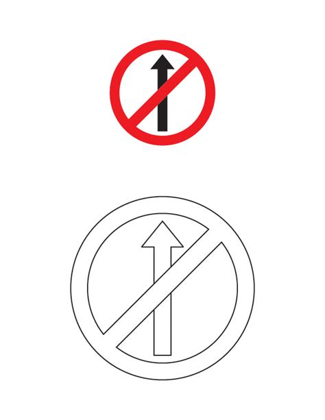 traffic signs coloring pages coloring coloring pages