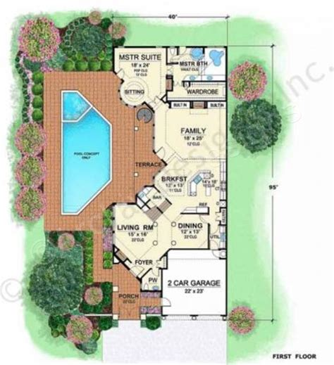villa house plans villa zeno narrow floor plans texas style floor plans