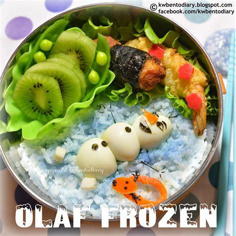Frozen Bento karenwee s bento diary bento2014 apr03 olaf frozen bento