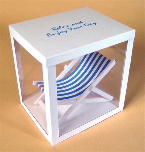 a4 card making templates for 3d deck chair display box