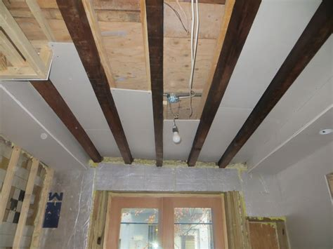 exposed rafter ceiling kitchen drywall resumes the hardest part chad s crooked