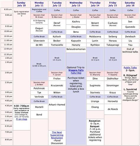 schedule matrix template schedule matrix