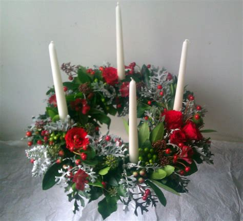 images of christmas wreaths with candles the florist winslow delivering high quality flowers for