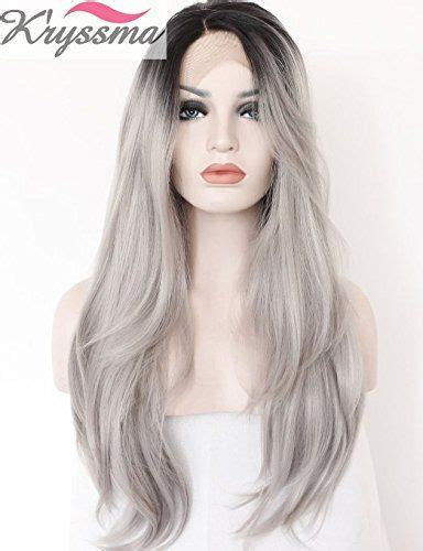 brown long hair with grey aroung front 17 best images about pelukis on pinterest lace wigs