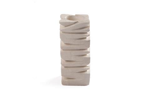 candele scolpite tris di porta candele in pietra leccese medio