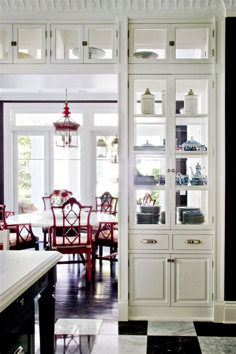 Kitchen Cabinets With Glass Doors On Both Sides by Glass Cabinet Partition Between Kitchen And Livingroom
