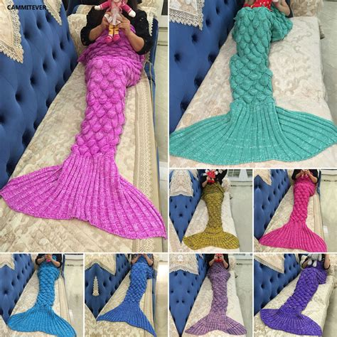 mermaid tail sofa blanket aliexpress com buy cammitever mermaid blanket mermaid