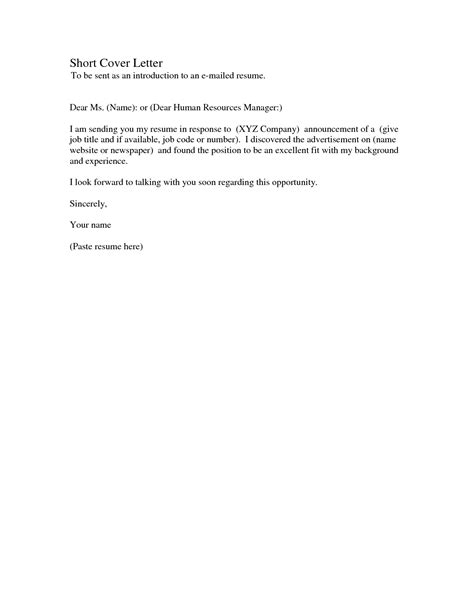 Cover Letter Letter Of Application Exles Simple Cover Letter For Application Resume Badak