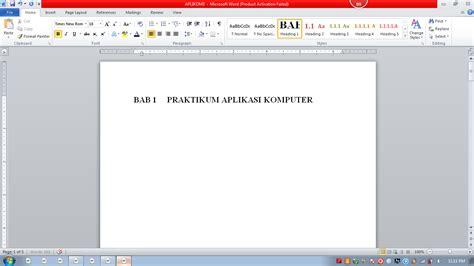 cara buat daftar isi heading cara membuat heading caption daftar isi dan daftar