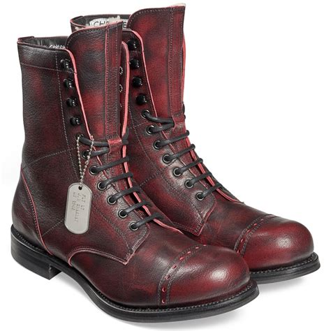 Boots R Style cheaney tiger moth r black cherry mid calf boots made in