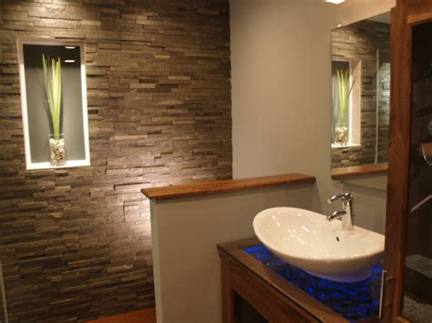Spa Bathroom Natural Stone Contemporary Bathroom