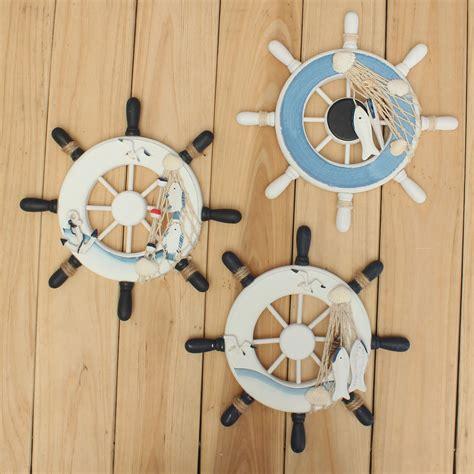nautical decoration wood boat ship wheel nautical decoration beach home rudder