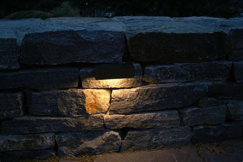 Retaining Wall Lights by Artistic Landscapes 187 Lights Built Into A