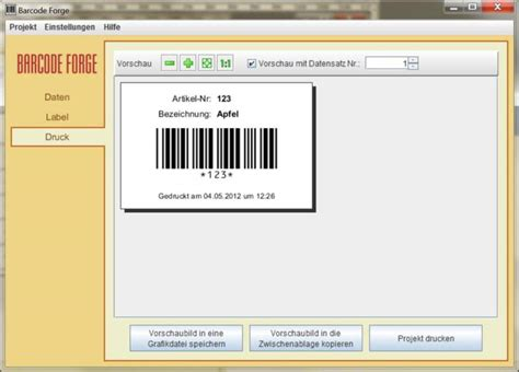Etiketten Drucken Barcode by Barcode Forge Freeware De