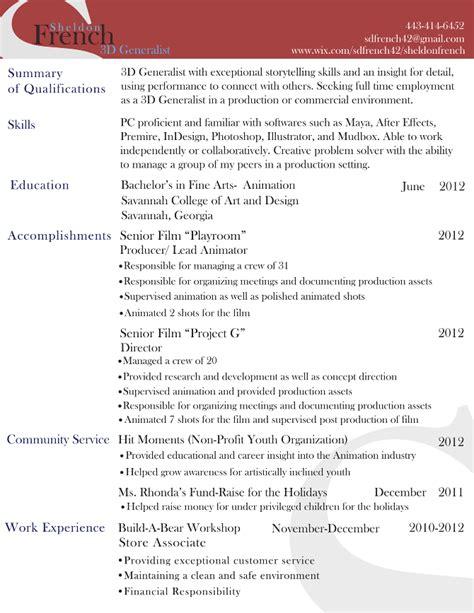 animation resume format for freshers animation resume format for freshers