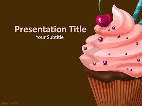 Free Cup Cakes Powerpoint Template Download Free Powerpoint Ppt Cupcake Powerpoint Template