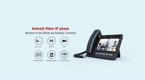 android ip fanvil c600 android phone multimedia phone with
