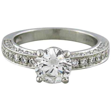 bulgari platinum engagement ring at 1stdibs
