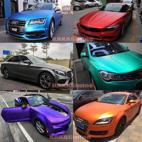 wrap colors 10 colors car stretch satin matte metallic chrome vinyl