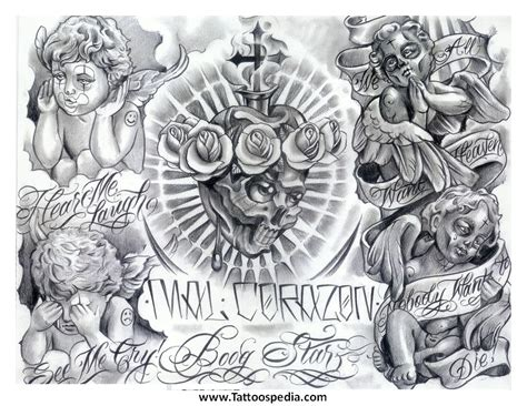 mafia tattoo designs l a mexican fonts 5