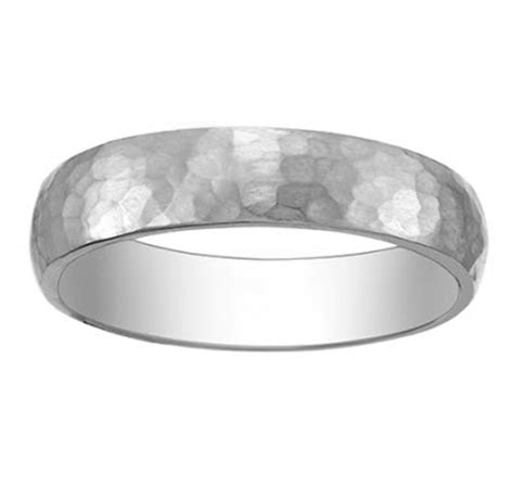 hammered platinum wedding band for your groom from
