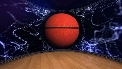 basketball interactive animation of an interactive basketball court stock footage