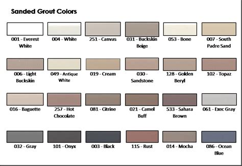 sanded grout colors texrite ac cent sanded grout