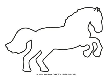 printable horse templates image gallery horse printables